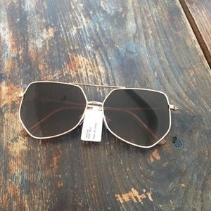 Charming Charlie NWT Rose Gold Hexagon Sunglasses